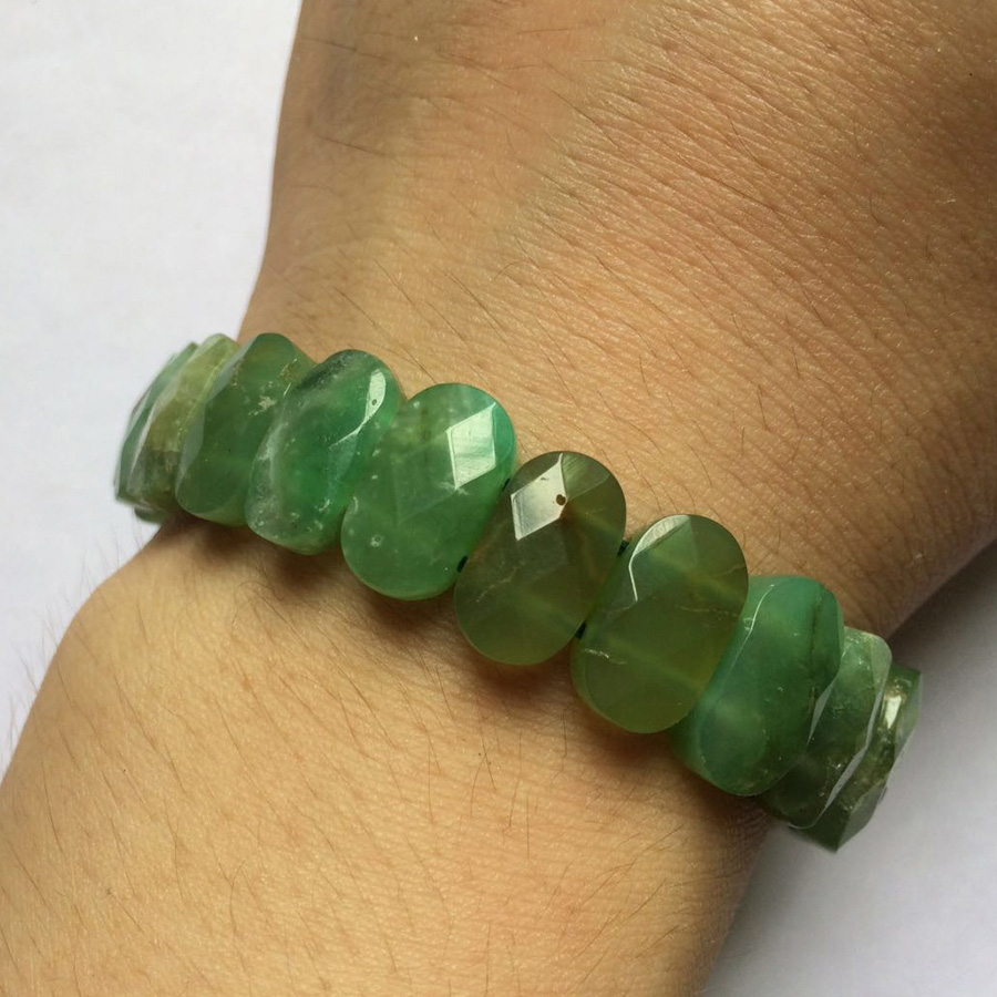 Natural Chrysoprase stone beads bracelet natural GEM stone bracelet DIY jewelry bracelet for woman free shipping wholesale luminous pearl bracelet stone bracelet rare stone bracelet