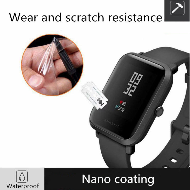 Image 2 - 10pcs/wholesale original for xiaomi huami Amazfit bip Screen Protectors ultra thin protective film full HD TPU smart movie watch-in Smart Accessories from Consumer Electronics