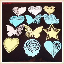 100pcs DIY Place Card Laser Cut Flying Bird Wedding Invitation Wine Cup Card Name Card Wedding Party Decorations 5ZB35