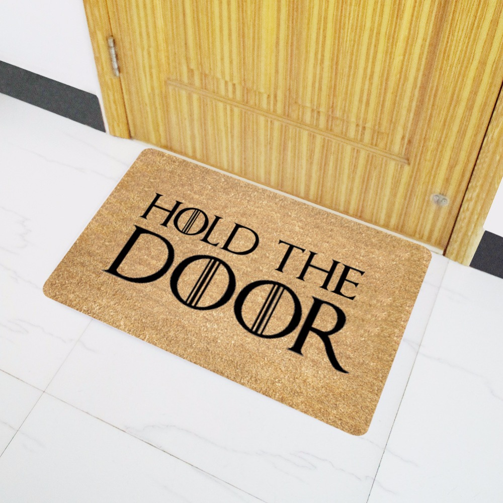 Funny bathroom rugs - Aliexpress Com Buy Mdct Funny Doormats Hold The Door Entrance Welcome Mats Rubber Back Doormats Hallway Doorway Bathroom Rugs Floor Mats And Carpet From