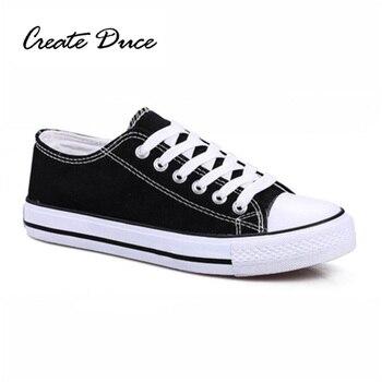 CRIAR DUCE Homens Lona Sapatos Da Moda Casual Cor Sólida Sapatos de Plataforma Sapatilhas Lace-Up Calçados vulcanizados Plus Size 45 46