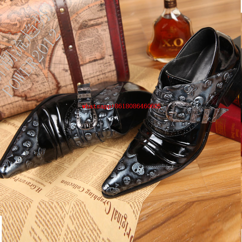 classic Fashion Style Skeleton Mens Pointed Toe Dress Shoes Genuine Leather High Heels Italian Mens Shoes Brands Formal Busines classic style classic mens dress shoes deep coffee color genuine leather oxford shoes for men lace up pointy loafers high heels