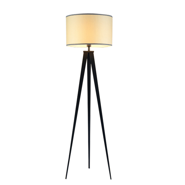 Chinese tripod floor lamp modern bedroom living room deco light chinese tripod floor lamp modern bedroom living room deco light black iron flaxen fabric lampshade home mozeypictures Images