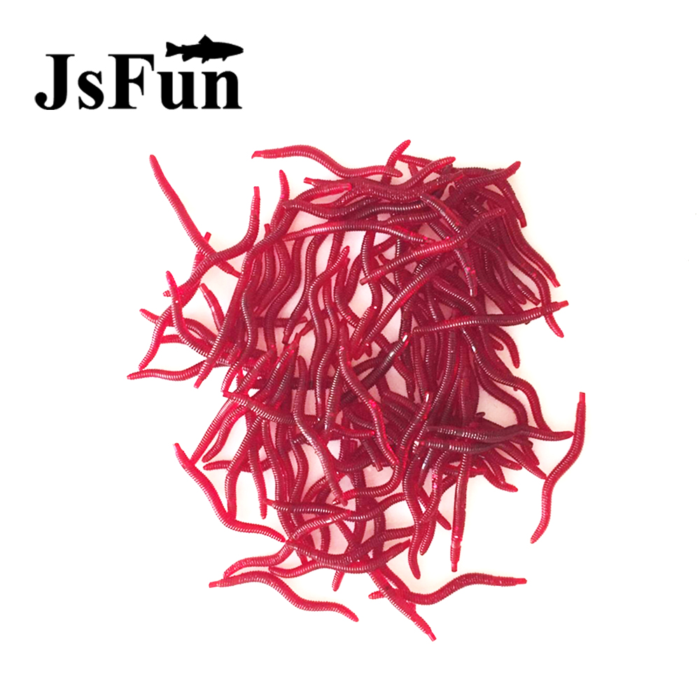 JSFUN 100Pcs Earthworms 4cm Artificial Fishing Lure Worm Soft Lure Baits iscas artificiais lote Leurre Souple FU104 jsfun 100pcs earthworms 4cm artificial fishing lure worm soft lure baits iscas artificiais lote leurre souple fu104