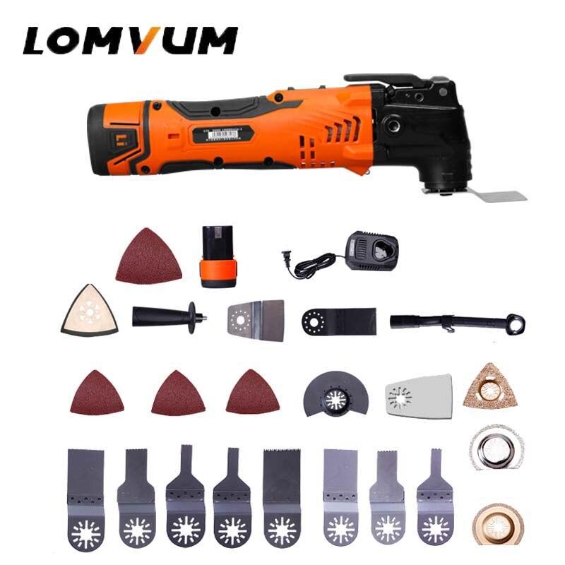 LOMVUM Renovator Multi Tools Electric Multifunction Oscillating Tool Kit Multi-Tool Power Tool Electric Trimmer Saw Accessories