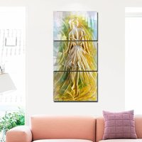 Балетная Девушка Современная живопись стены искусства постер для домашнего декора 3 панели домашние декоративные предметы для гостиной де