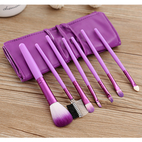 New Women 1 Set 7 PCS Makeup Brushes Soft Synthetic Hair Fashion Foundation Cosmetic Tools Beauty