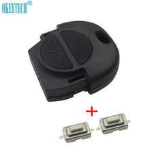 OkeyTech Replacement Remote Fob Key Shell + Switch for Nissan Micra Almera Primera X-Trail 2 Buttons Car Key Case Cover No Blade