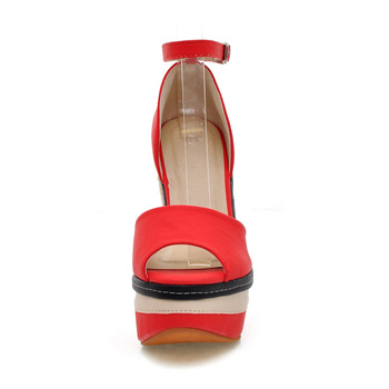 WETKISS Sexy Open toe Weave Patch Color Wedges Gladiator Sandals Women High Heels Platform Sandals Summer Women's Shoes Woman 4