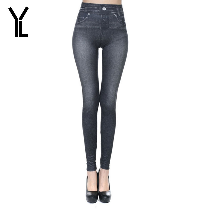 YL 2017 Jeans Women New Casual Style Skinny High Waist Leggings Bleached Straight Pencil Pants Plus Size
