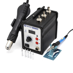 Hot Air Gun Desoldering Soldering Rework SMD Station kit 858D + 60W Temperature Adjustable Electric Soldering Iron