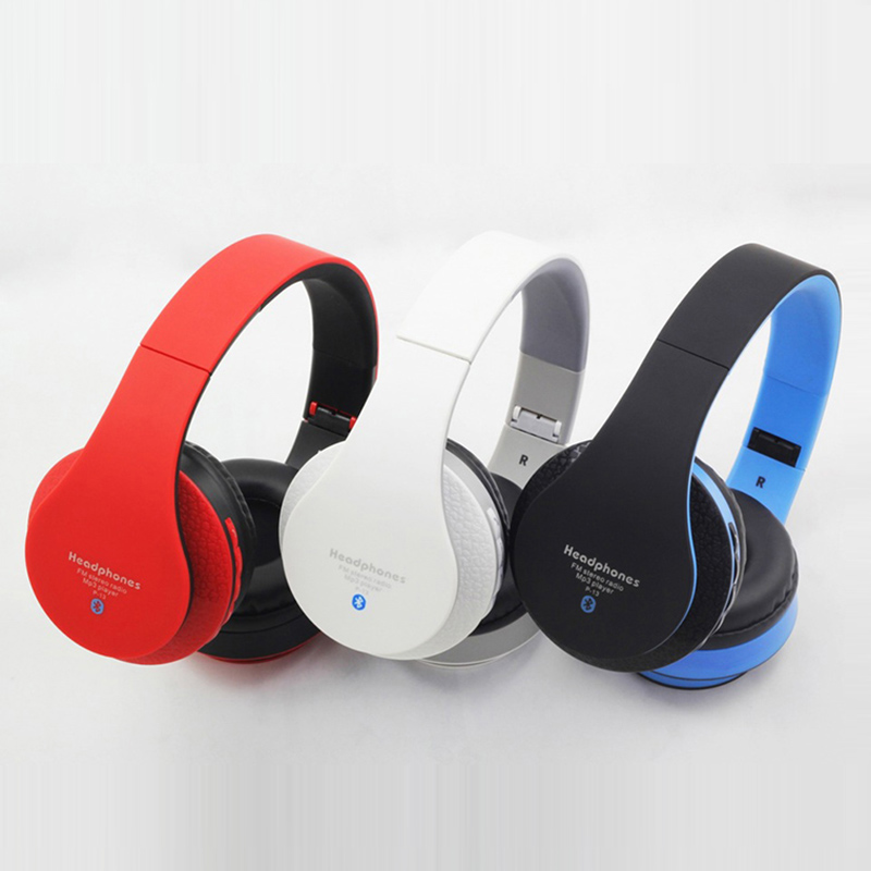Colorful Brand Wireless Foldable Headsets P13 With Retail Package OEM Portable Media Player Bluetooth Headphones Free