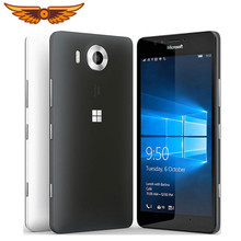 Original Nokia Lumia 950 Entsperrt 5,2 Zoll 32GB ROM 3GB RAM 20,0 MP Hexa Core Windows Mobile NFC FDD Touchscreen Handy