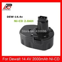 NOUVEAU 14.4 V Ni-CD 2.0Ah Remplacement Power Tool Batterie pour Dewalt DC9091 DE9038 DE9091 DW9091 DE9092 DW9094 DE9094