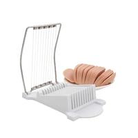 Creative Design White Eggs Ham Banana Fruit And Vegetable Stainless Steel Cutting Machine Slicer Kitchen Gadget