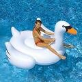 2016 frete grátis New Hot Sale 1.5 M grande ao ar livre inflável cisne branco montagens Adult Swim água linha flutuante float cama deitado