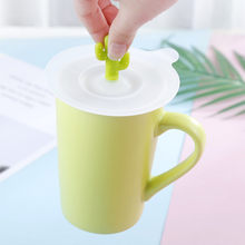 Reusable Silicone Cup Lids Cartoon Cactus Shape Leakproof Anti-Dust Heat Resistant Drinkware Cover for Tea Coffee Cups(China)