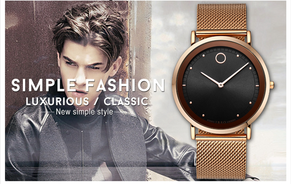 IBSO Fashion Simple Style Ultra Thin Bracelet Watches 1