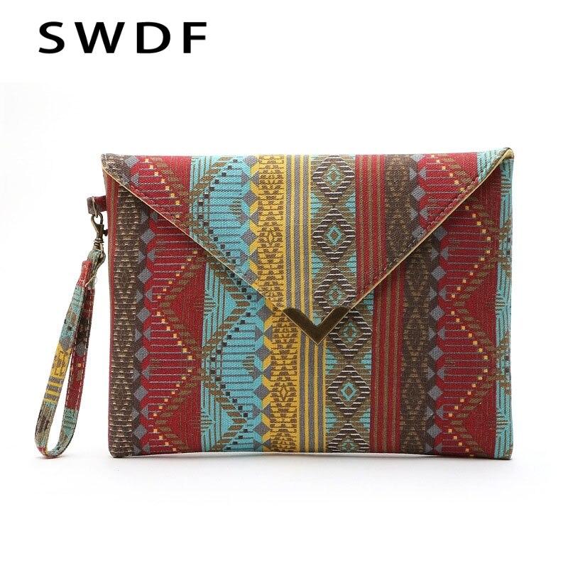 SWDF 2020 Luxury Evening Bags Handbags National Women Bag SAC Clutches Geometric Ladies SAC A Main Bolsa Feminina Handbag Clutch