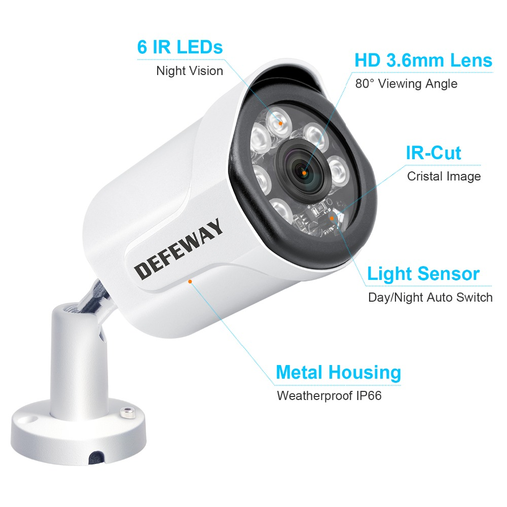 Image 3 - DEFEWAY 2.0MP Video Surveillance System 8CH NVR Security Camera System Outdoor Video Surveillance With 1TB HDD 4PCS IP Camera-in Surveillance System from Security & Protection