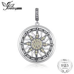 JewelryPalace 925 пробы серебро желтый и белый кубический цирконий небесные Защита от солнца Подвеска Шарм Fit Браслеты для женщин как подарки