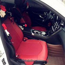 Natural stone car general claretred breathable seat cushion vintage classical four seasons interior covers for girls'