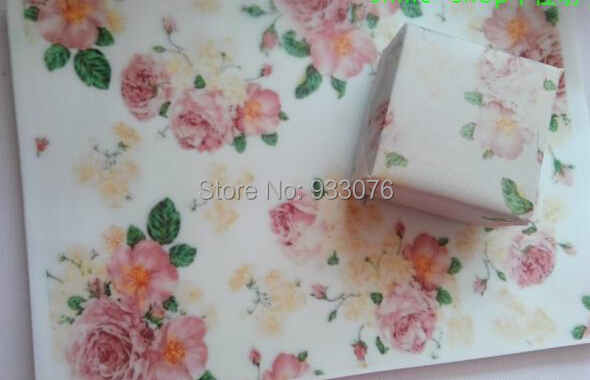 Flower Semi Transparent Double Side Coated Soap wrapping  73g wax paper /Greaseproof paper