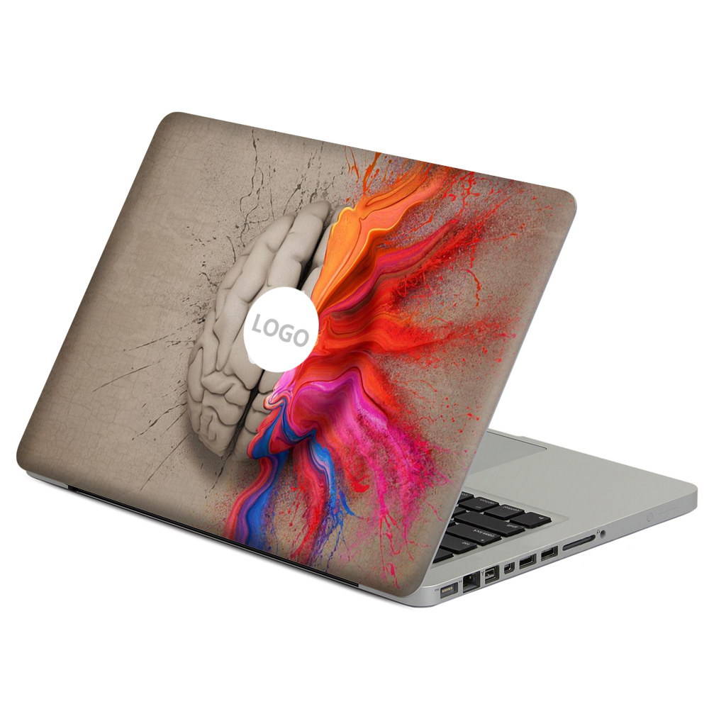 Oil painting Left and right Brain Laptop Decal Sticker Skin For MacBook Air Pro Retina 11 13 15 Vinyl Mac Case Notebook Body