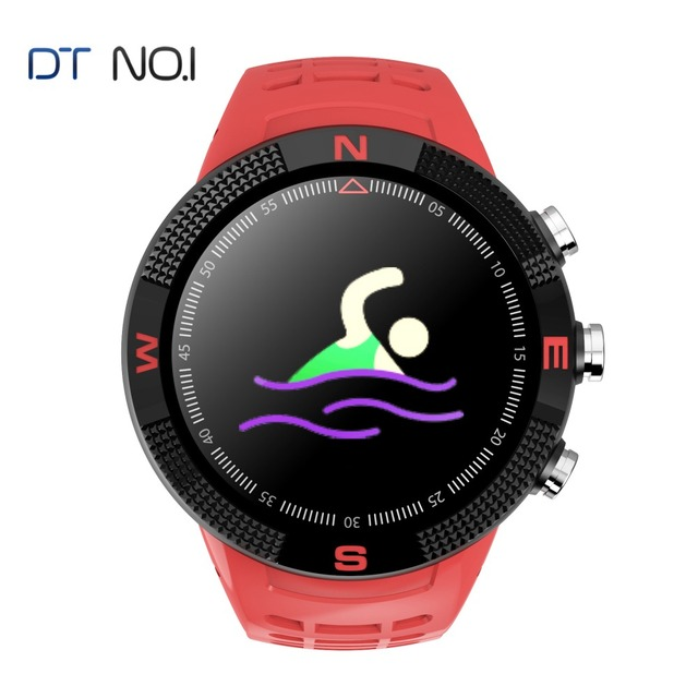 NO.1 F18 GPS Glonass Smartwatch Heart rate Sport Bracelet Watch IP68 Compass Bluetooth Fitness tracker For Android/IOS