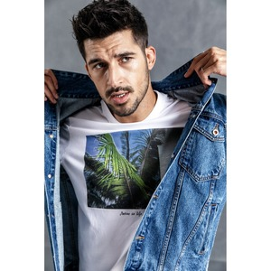 Image 3 - SIMWOOD di Giacca di Jeans Da Uomo 2020 primavera Nuovo Lato Di Modo Giacca A Righe Hip Hop Street wear Plus Size Marchio di Abbigliamento 190035