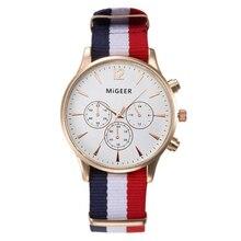 MIGEER Fashion Black & White Strap Quartz Watch Men Casual Male Sport Business Wrist Men's Watches relogio masculino 0000