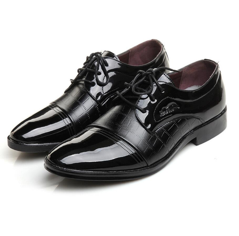SAGYUA Luxury Brand Patent Leather Shoes Men Oxfords Men's Flats - Men's Shoes - Photo 2