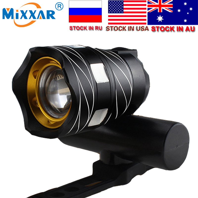 ZK30 16000LM 3000 mAh LED USB recargable al aire libre Zoomable T6 Luz de bicicleta frente lámpara antorcha linterna batería incorporada