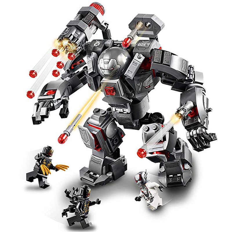 War Machine Compatible Legoing 76124 Marvel Avengers Endgame Super Heroes Model Building Blocks Boy Birthday Gifts Children Toys