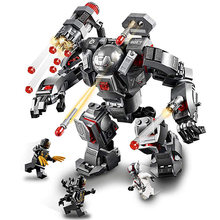 War Machine Compatible Legoing 76124 Marvel Avengers Endgame Super Heroes Model Building Blocks Boy Birthday Gifts Children Toys(China)