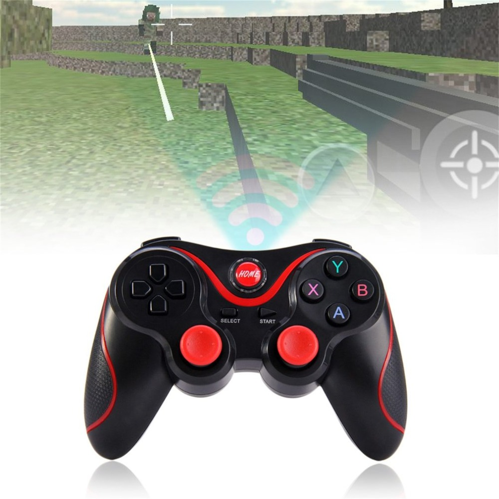 Lightweight T3 Wireless Bluetooth V3.0 Gamepad Dual Analog Joystick Gaming Controller Suitable for Android Smartphones Tablets