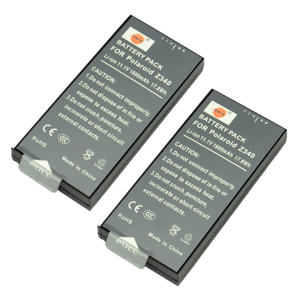 DSTE 2PCS Z340 Rechargeable Battery for Polaroid Z340 POGO GL10 Camera