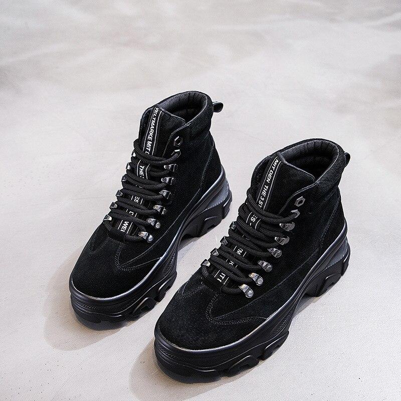 Jookrrix Mode lady Marque Bottes Chaussures Chaussure Véritable Creoss Brun Martin Attaché Khaki Femmes noir Noir Femelle En Cuir F88dqrxI