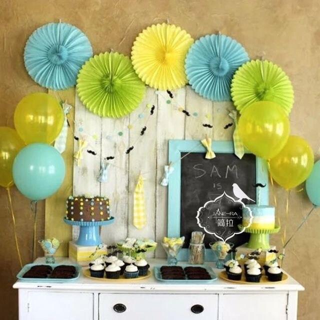 amazing cm bojar decoracin artesana abanico de papel fiesta de cumpleaos en casa de la boda with cumpleaos en casa - Fiesta De Cumpleaos En Casa