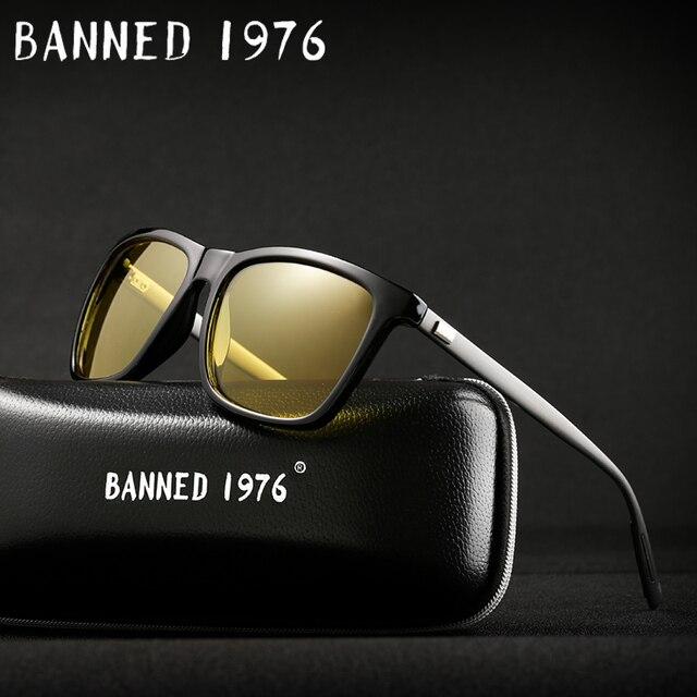 2018 Night verision Aluminum Glasses Anti Glare Brand Unisex Retro Vintage Eyewear evening Driving Glasses For Men/Women