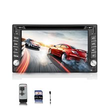 Double 2 din 6.2 inch car DVD CD player LCD Touch screen Car Stereo Radio auto Supports USB/SD FM AM MIC AUX +Free map card