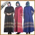 2016 Limited Mujeres Musulmanes Visten Fotos Caftán 2017 Nueva Burka Abaya Oriente medio Nacional Perla de Impresión de Manga Larga Más Tamaño