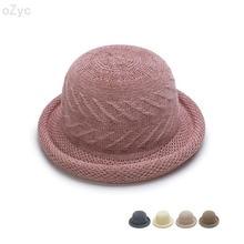 Hat Ladies-Accessories Women Fedoras Autumn Winter Fashion New And for Pot-Cap Barrel-Hat