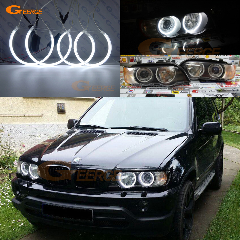 For BMW E53 X5 2000 2001 2002 2003 Fremragende Ultralyser CCFL Angel Eyes-sæt Halo Ring