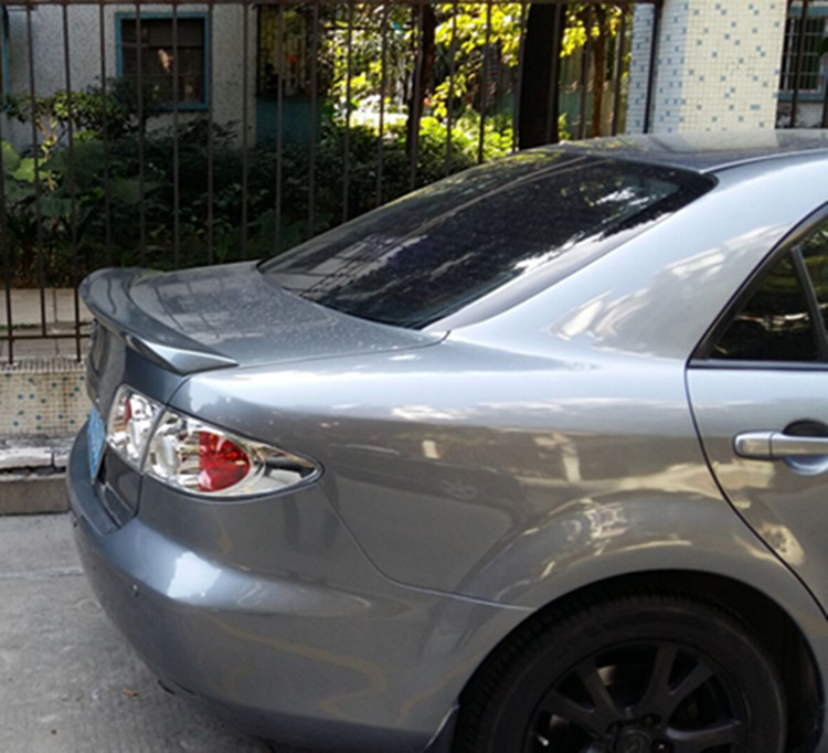 osmrk unpainted abs tail wing rear spoiler for mazda 6 2003 2015-in