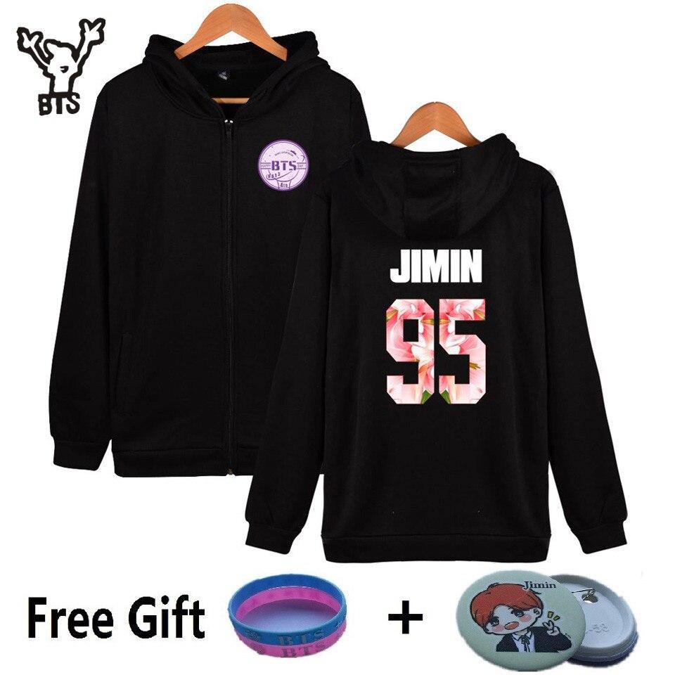 BTS Fourth Anniversary New Style Kpop Hooded Men/Women Hoodies Zipper Popular Hiphop Coat Winter Sweatshirt Cotton Casual Clothe