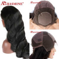 200 Density Full Lace Human Hair Wigs Silk Base Full Lace Wig Natural Black Color Body Wave Remy Brazilian Pre Plucked