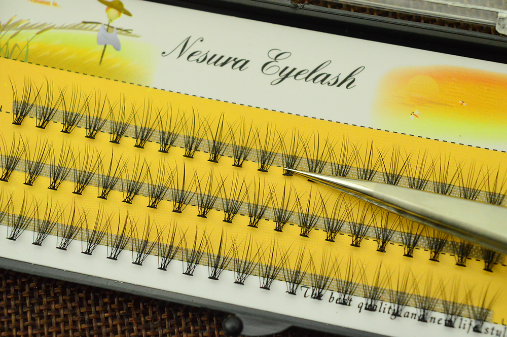 HTB1 y1moCtYBeNjSspkq6zU8VXae 60 pcs/lot 10D Handmade natural eyelash extension individual lashes nakeds make up eyelash cluster false fake wispies eyelashes