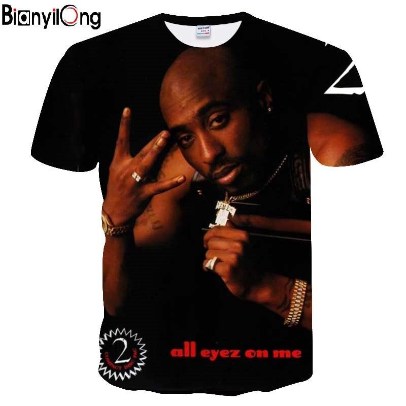2018 New   t     shirt   me Harajuku style   t  -  shirt   Women/Men Tupac 2pac 3d   t     shirt   character print Hip Hop Tees Tops size Drop Shipping