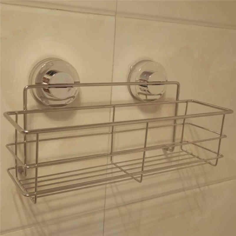 Hot Venda de Alimentos Grau 304 Aço Inoxidável Banho de Chuveiro Caddy de Armazenamento Do Banheiro Cesta de Sucção Ferramenta Arrumado